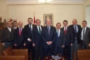 TUSİB Yönetimi Büyükelçi Mehmet Samsar'ı ziyaret etti
