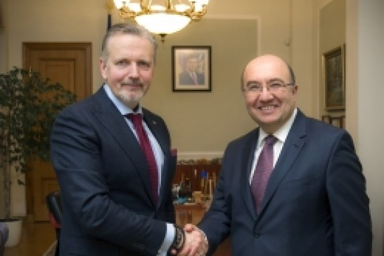Devlet Başkanlığı Dış İlişkiler Departmanı Başkanı Gonçaruk ile Büyükelçi Samsar Kiev'de görüştü
