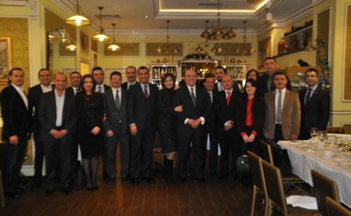 Türk iş dünyasından Kiev Büyükelçisi Mehmet Samsar'a veda yemeği