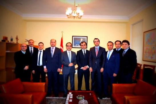 TUİD'den Kiev Büyükelçisi Yönet Can Tezel'e tanışma ziyareti