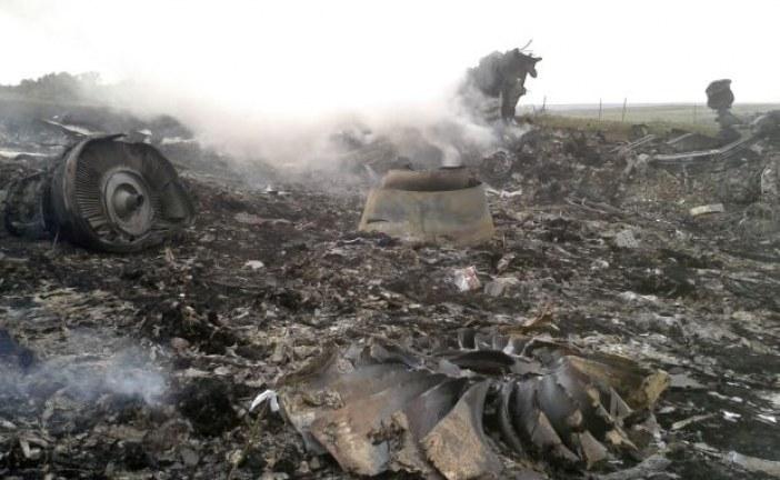 Malezya uçağının düşüşünden hemen sonra çekilen görüntüler yayınlandı