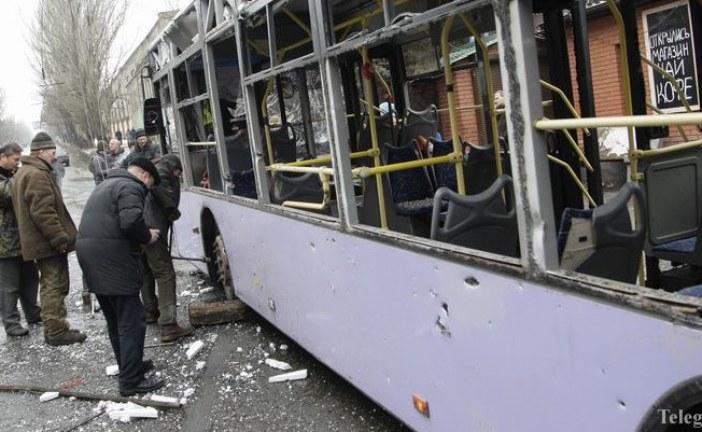Ukrayna güne felaketle uyandı, isabet alan troleybüste çok sayıda kişi yaşamını yitirdi
