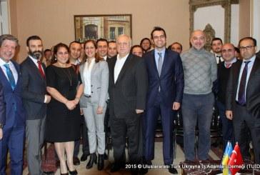 EBRD Ukrayna direktörü Şevki Acuner, Türk işadamları ile bir araya geldi (fotoğraflar)