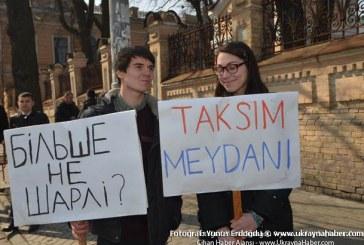 Erdoğan'ın ziyareti sırasında protesto gösterisi düzenlendi