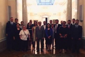 Ukrayna'daki görev süreleri dolan Türk diplomatlar veda ettiler