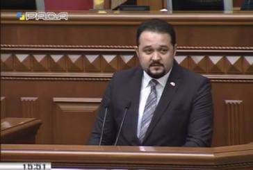 Ukrayna'da bir ilk, Türk işadamından parlamento kürsüsünde yolsuzlukla mücadele konuşması