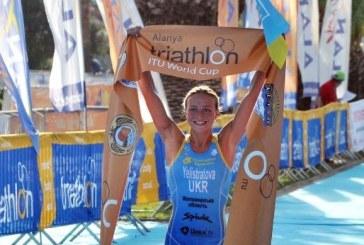 Alanya'daki Triatlon şampiyonasında Ukraynalı atlet birinci oldu