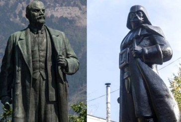 Heykelin dönüşümü; Lenin gitti wi-fi'li Darth Vader geldi