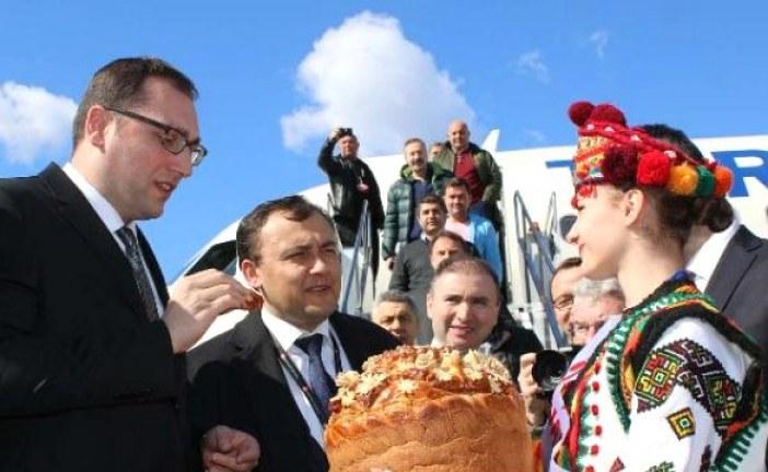 Türk Hava Yolları uzakları yakın etmeye devam ediyor, İvano Frankivsk uçuşları törenle başladı