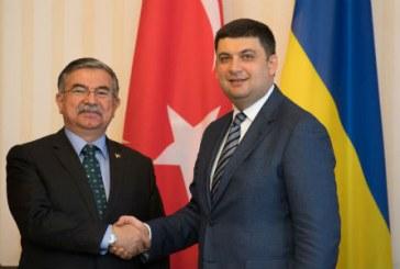 Milli Savunma Bakanı Yılmaz Kiev'de, 'Ukrayna'yı en önemli ortaklarımızdan biri olarak görüyoruz'