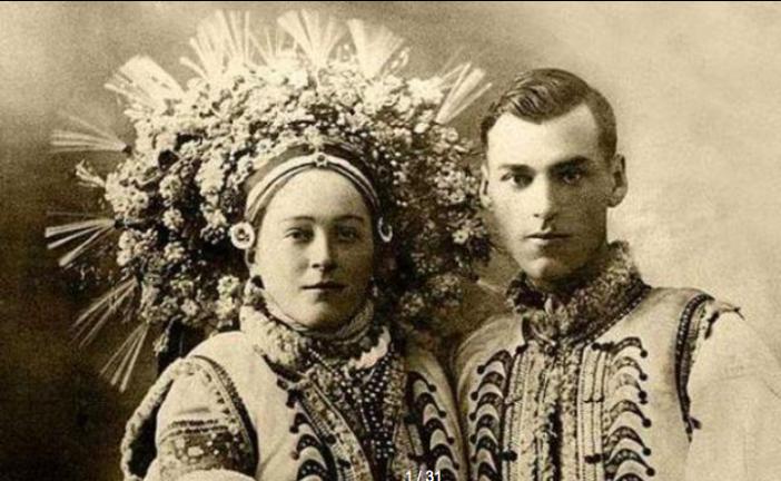 Gelinler ve damatlar eskiden nasıl giyinirdi? 100 yıllık Ukrayna düğünlerinden kareler