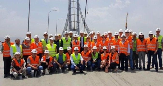 Ukrayna heyeti Osman Gazi Köprüsü'nü ziyaret etti