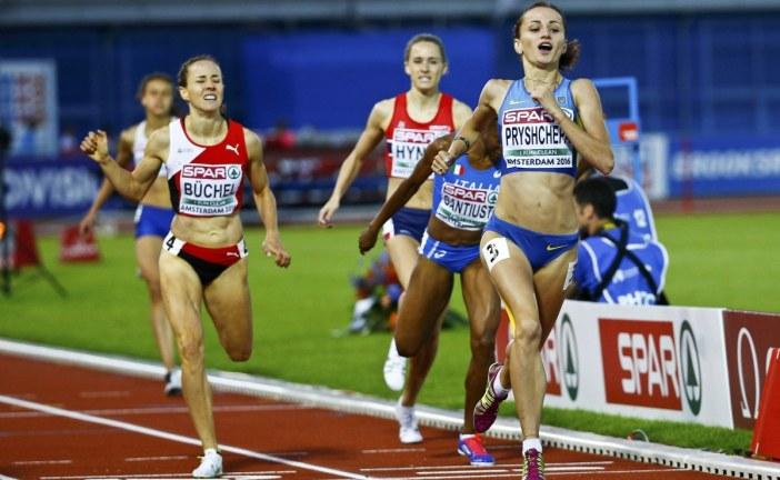 Ukraynalı Natalia Prişçepa Avrupa Atletizm Şampiyonası'nda altın madalya kazandı