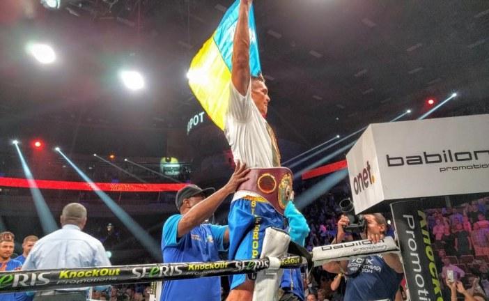Ukrayna'dan yeni bir şampiyon çıktı; Oleksandr Usik WBO kemerinin sahibi oldu (video)