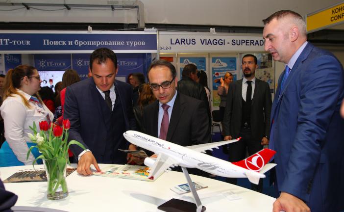Kiev'deki turizm fuarına Türk Hava Yolları damgası, Türk şirketi fuarın ilgi odağı oldu