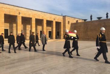 Ukrayna Milli Güvenlik ve Savunma Konseyi heyeti Anıtkabir'i ziyaret etti