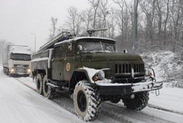 Yoğun kar Ukrayna'yı esir aldı, altı bölgede yollar kapandı