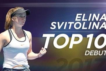 Ukraynalı Elina Svitolina dünyanın en iyi 10 tenisçisi arasına girdi