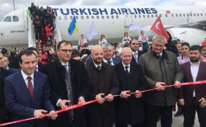 Türk Hava Yolları'nın Ukrayna'da gurur günü, Kharkiv seferleri başladı