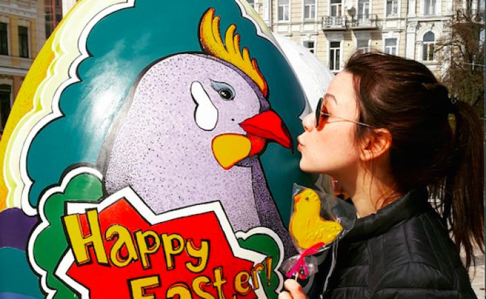 Kiev'de paskalya coşkusu, birbirinden ilginç yüzlerce Paskalya yumurtası görenleri hayran bırakıyor