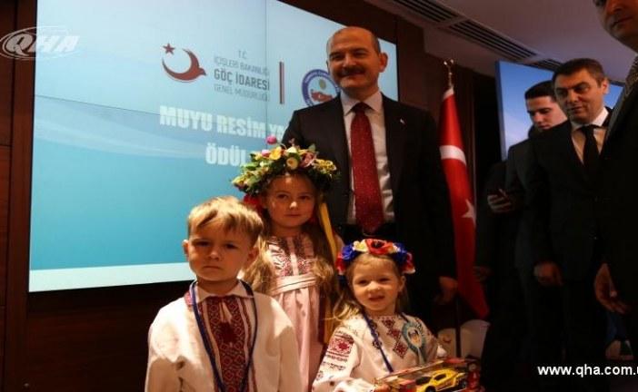 İçişleri Bakanı'ndan Ukraynalı çocuklara özel ilgi