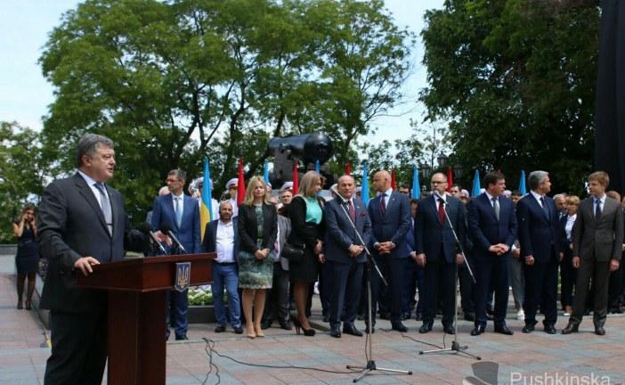 Odesa'da anlamlı gün, Petro Poroşenko İstanbul Park'ı açtı