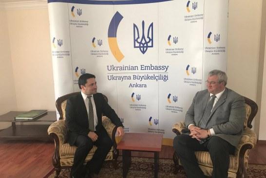 Ukrayna'nın Ankara Büyükelçisi UkrTürk'e konuştu