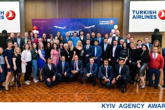 Türk Hava Yolları'ndan ödül gecesi, başarılı acenteler Kiev'de bir araya geldiler