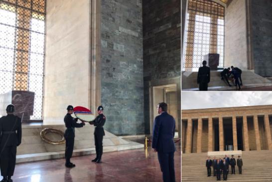Ukrayna Başsavcısı Lutsenko Anıtkabir'i ziyaret etti
