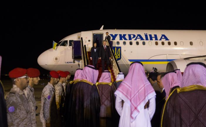 Ukrayna Cumhurbaşkanı Poroşenko Suudi Arabistan'da, gündem yatırım imkanları ve askeri işbirliği