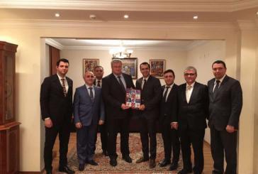 Ukrayna Büyükelçisi Sybiha Türk işadamlarını kabul etti