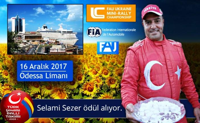 Odesa'da özel bir gün, Türk rallici ödül alıyor
