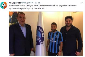 Adana Demirspor'a Ukrayna'dan transfer