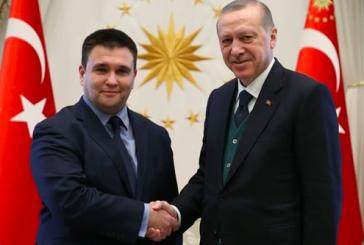 Cumhurbaşkanı Erdoğan Ukrayna Dışişleri Bakanı Pavlo Klimkin'i Kabul Etti