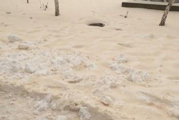 Afrika'nın kumu Ukrayna'ya ulaştı, Odesa'ya sarı renkli kar yağdı