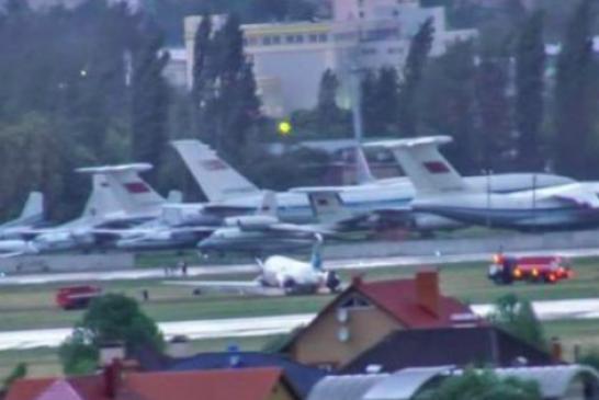 Havaalanında korku dolu anlar, Antalya – Kiev seferini yapan yolcu uçağı pistten çıktı