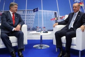 Poroşenko ve Erdoğan NATO zirvesinde bir araya geldi