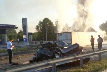 Kiev yakınlarında trafik kazası, iki kişi hayatını kaybetti, Türk vatandaşı şoför kaçtı iddiası