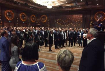Ukrayna Milli Günü Ankara'da kutlandı 'desteğini esirgemeyen tüm dostlarımıza müteşekkiriz'