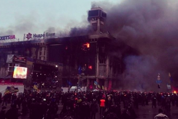 2014'deki 'Euromaydan' olaylarında tamamen yanmıştı, şimdi iş merkezi oluyor