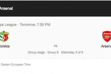 UEFA Vorskla – Arsenal maçının yerini değiştirdi, karşılaşma Kiev'de oynanacak