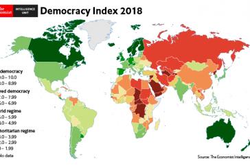 Demokrasi Endeksi 2018 yayınlandı, Ukrayna ve Türkiye 'demokrasi ve otoriterliğin' bir arada olduğu ülke kategoriside
