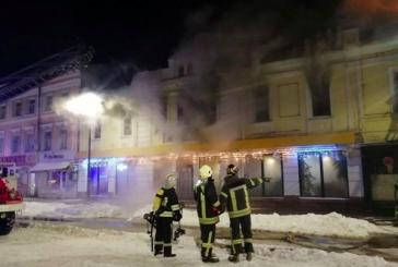 Kiev'deki Türk restoranında yangın çıktı (video)