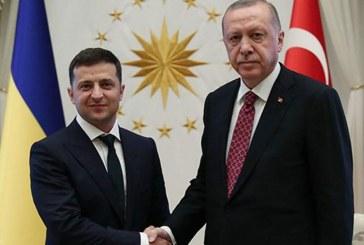 """Erdoğan ile ortak basın toplantısı düzenleyen Zelenski, """"Kırım Ukrayna'dır'"""