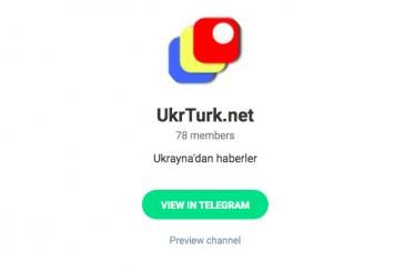 UkrTurk telegram hesabı yayında, Ukrayna'daki gelişmelerden anında haberdar olun (  t.me/ukrturk )