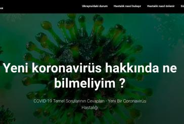 Faydalı bilgiler; Ukrayna Sağlık Bakanlığı'ndan koronvavirüs bilgilendirme sitesi; http://covid19.com.ua